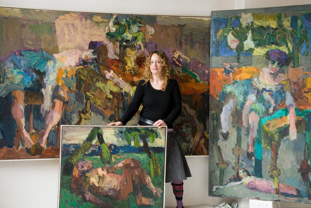 Angelika von Schwedes, Malerei, 25.3._22.4. 2007, Schloss Detmold
