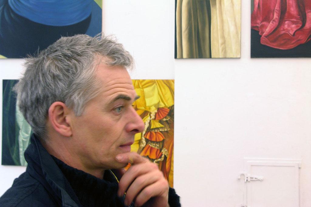 Rob de Vry, Draperien | Malerei, 28.3._2.5. 2004, Schloss Detmold