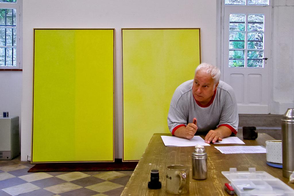 Edgar Hofschen, Übermalungen, 2003, Schloss Detmold