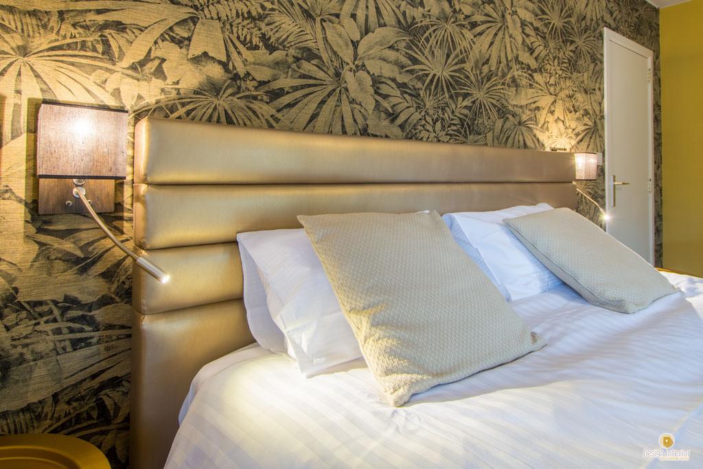 Décoration chambres d'hôtel à Celles Houyet Décoratrice d'intérieur Catherine Colot Design Interior UFDI  5580 Rochefort