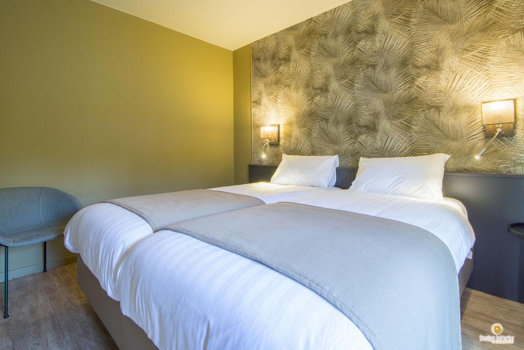 Décoration chambre hôtel La Clochette Celles Décoratrice d'intérieur UFDI Catherine Colot Design Interior 5580 Rochefort