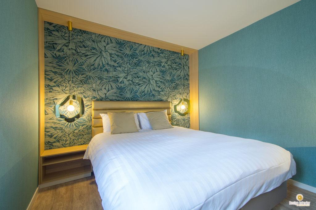 Rénovation et décoration d'une chambre d'hôtel à Celles Houyet  Création mobilier sur mesure Décoratrice d'intérieur UFDI Catherine Colot Design Interior 5580 Rochefort
