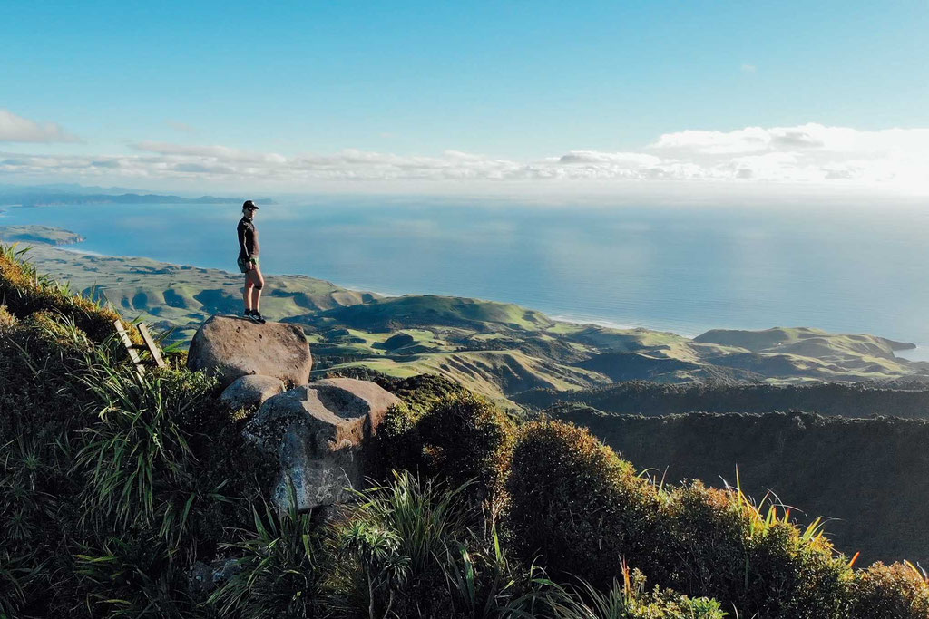 The views from Karioi Summit in Raglan