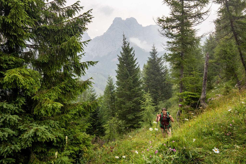 The last day of Alta Via 2. Hiking towards Passo di Finestra