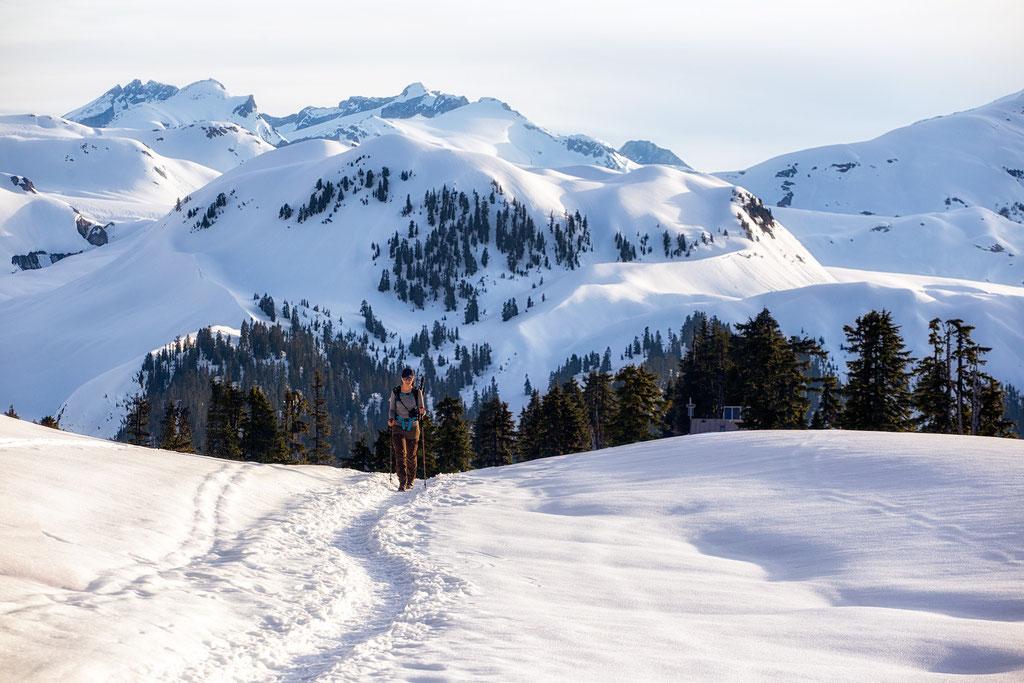 Hiking through Garibaldi Provincial Park
