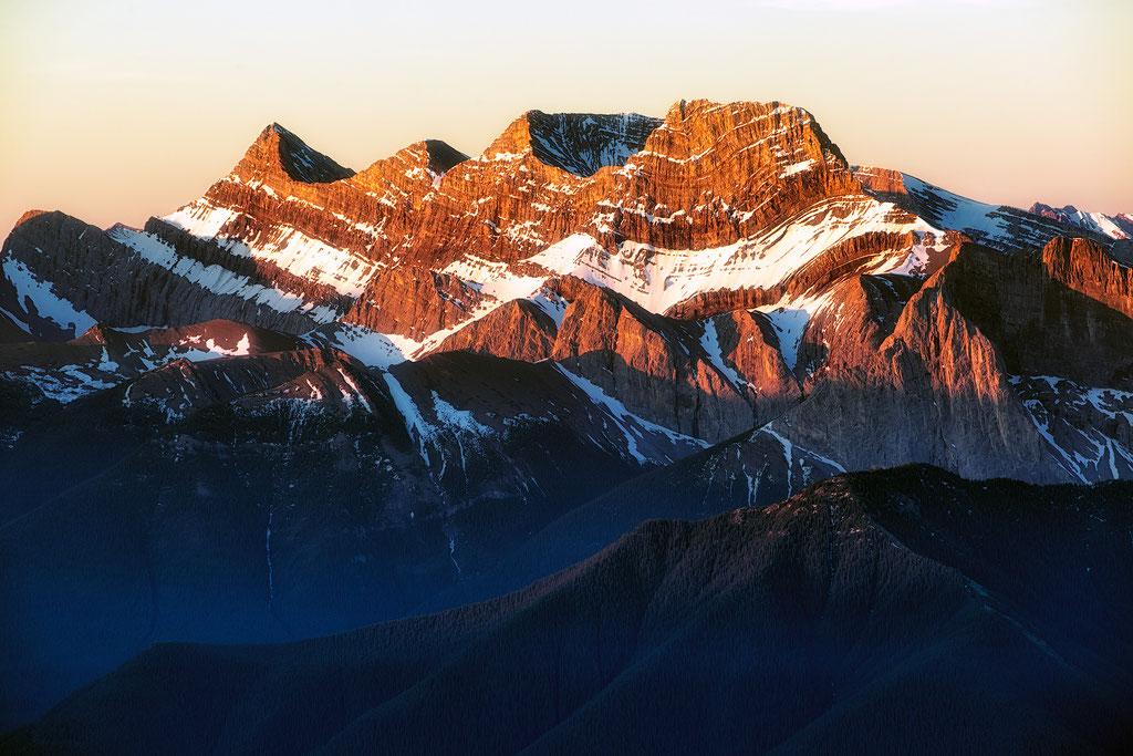 Mount Lougheed at sunrise views from Mount Lady Macdonald
