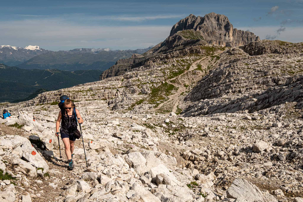 Day 1. Leaving Passo Grosté behind and heading towards the start of the via ferrata Alfredo Benini