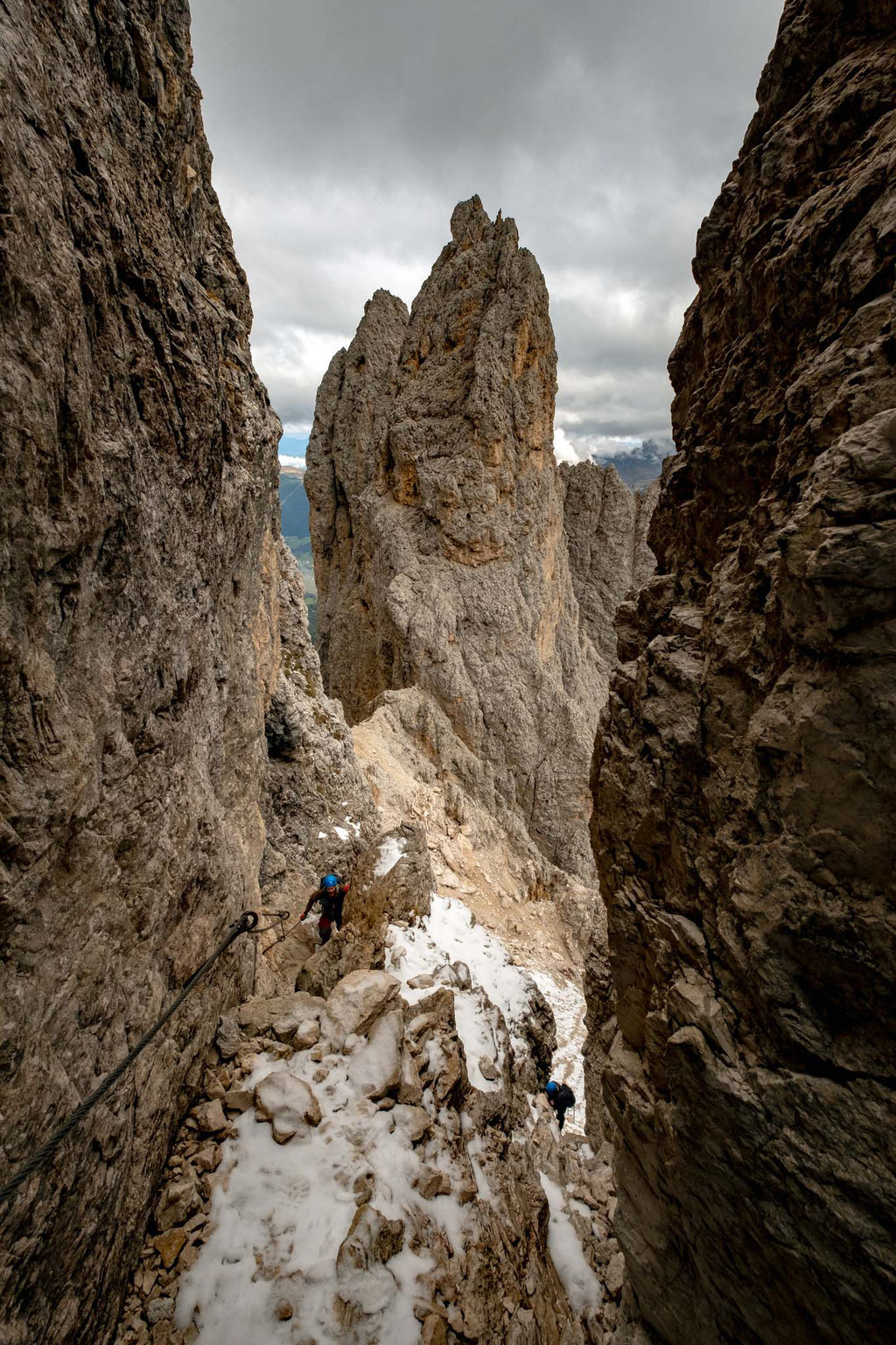 The views along the via ferrata as you climb higher