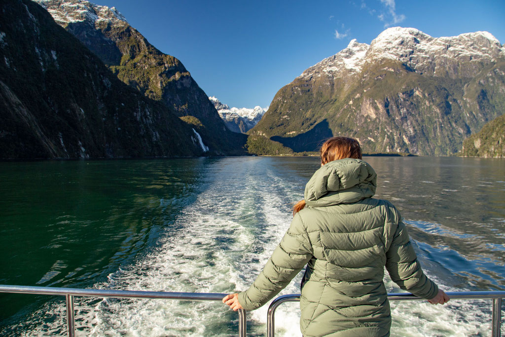 On the cruise around the Milford Sound