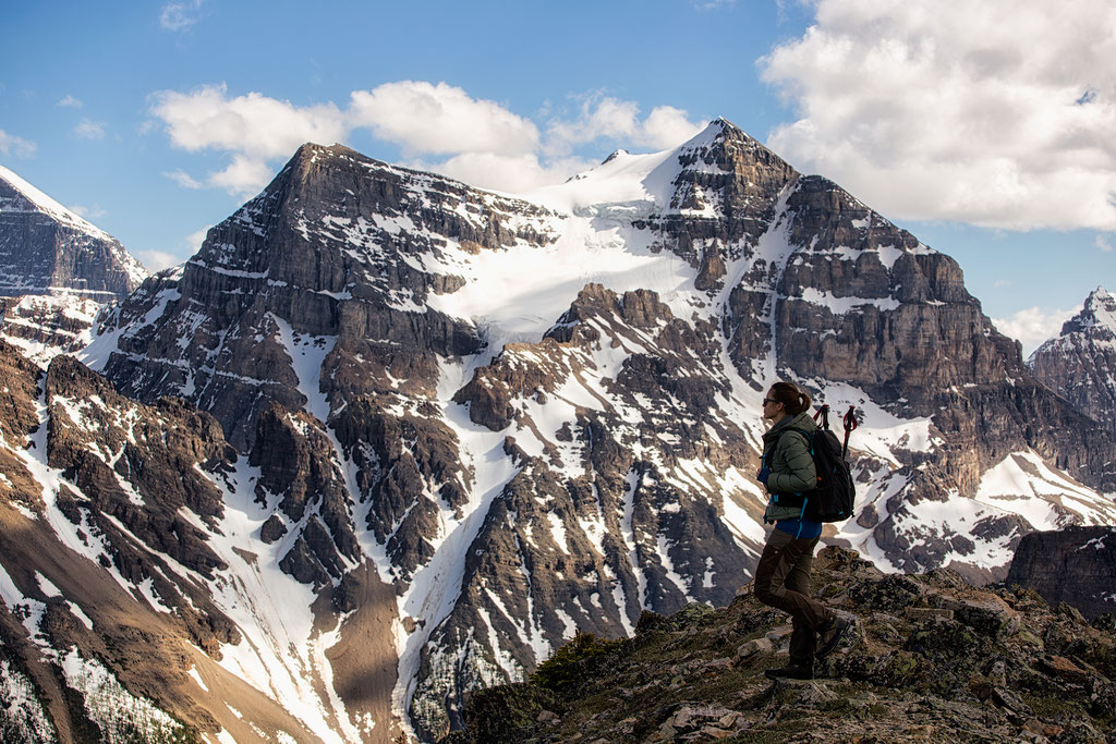 The surrounding peaks of the Canadian Rockies from the Summit of Mount Saint Piran