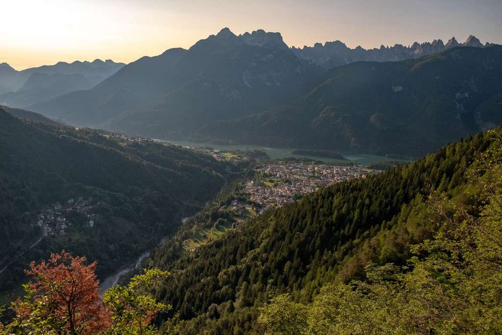 Pieve di Cadore from one of the viewpoints on the hike down to Pozzale