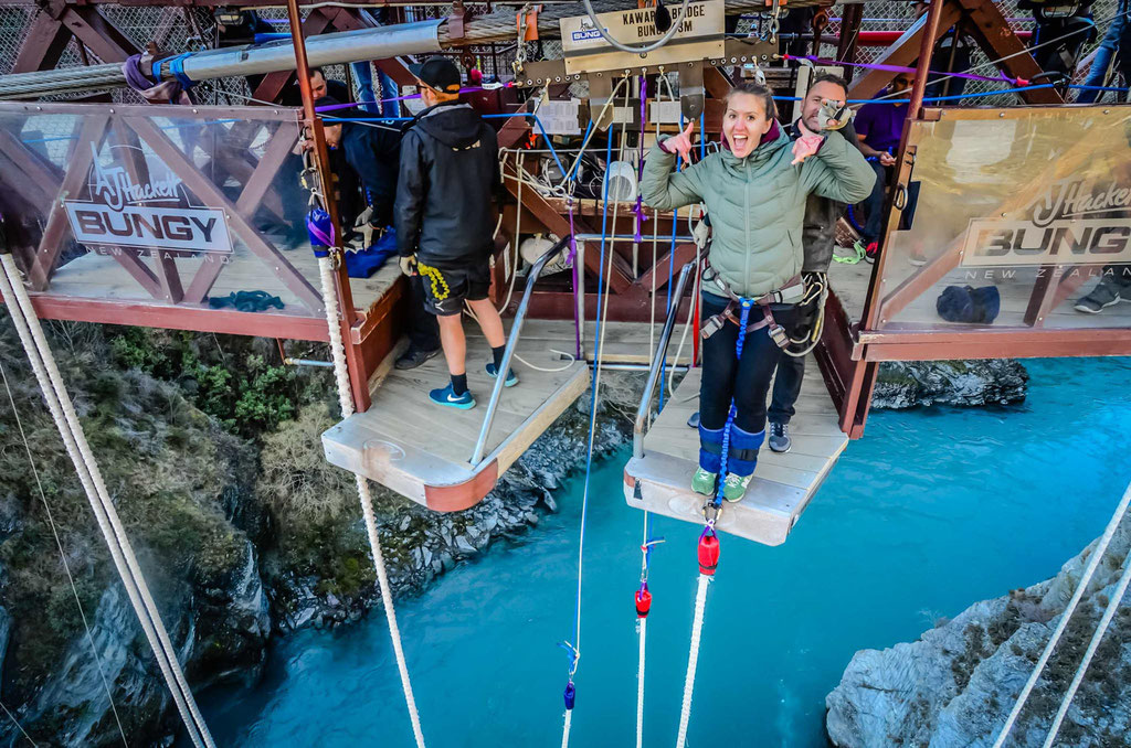 Me doing Kawarau bridge Bungy jump