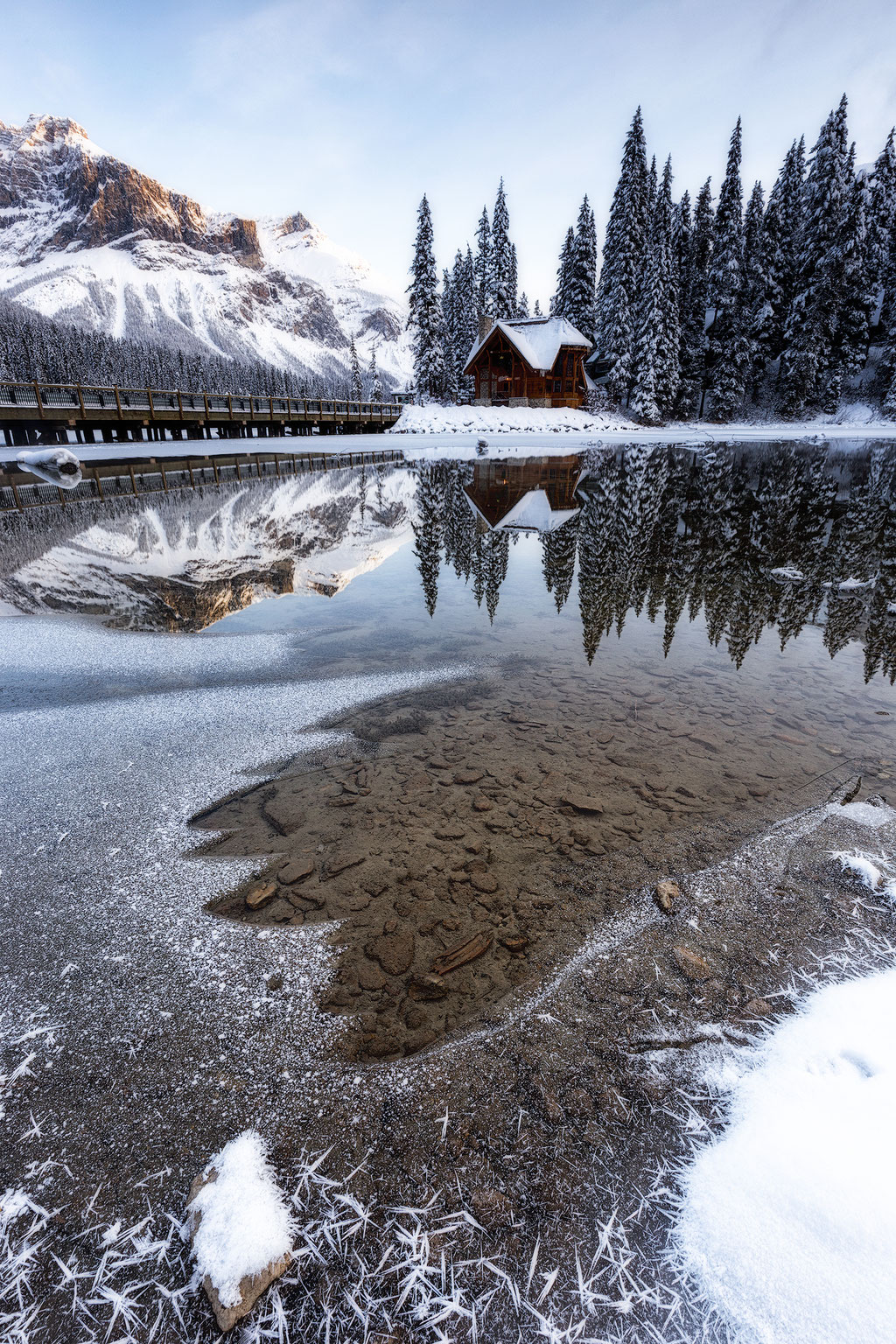 Emerald Lake Lodge in the winter