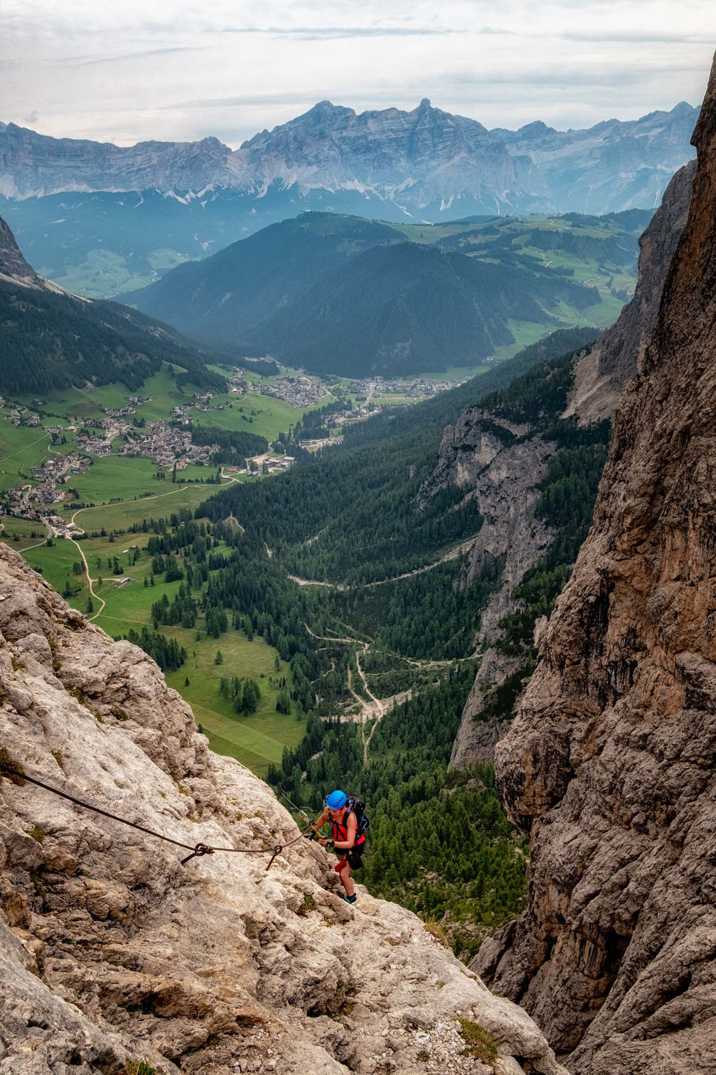 Ascending on the via ferrata Brigata Tridentina