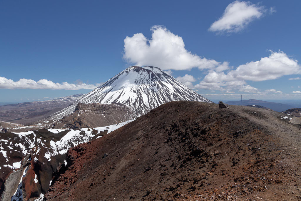 Mount Ngarauhoe on the Tongariro Northern Circuit