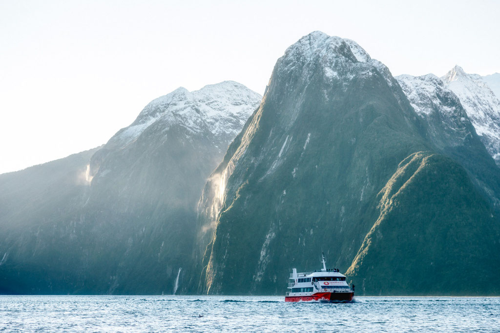 the dramatic peaks of the Milford Sound