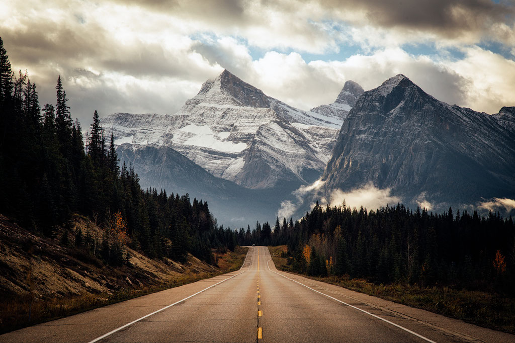Mount Christie, one of the stunning views along the Icefields Parkway
