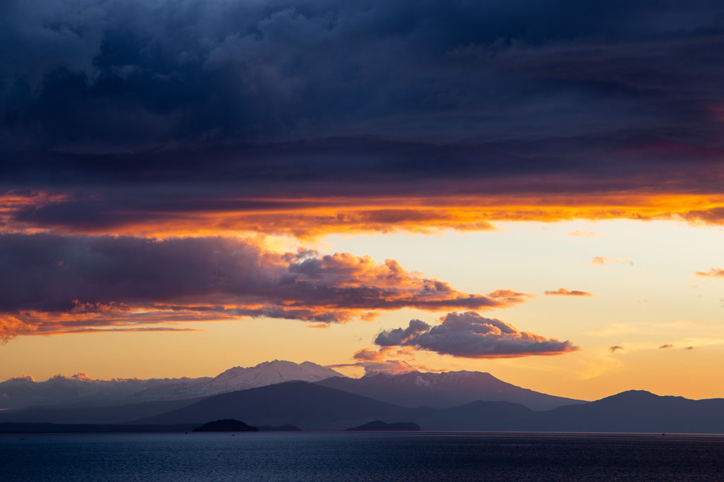 Lake Taupo at sunset