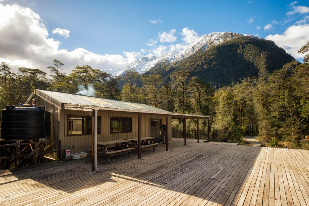 Clinton hut - the first hut along the Milford Track