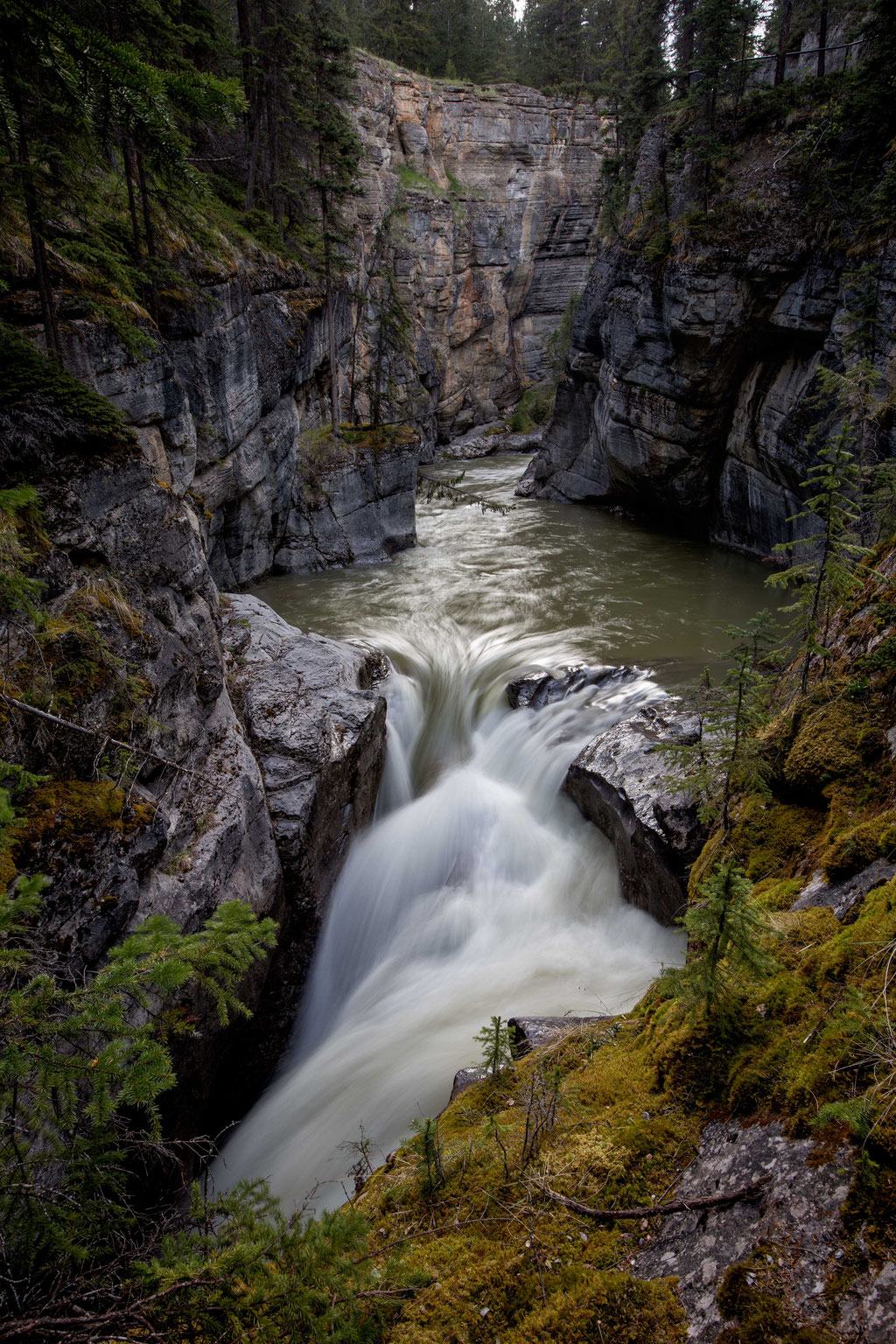 Best hikes in Jasper NP. Maligne Canyon