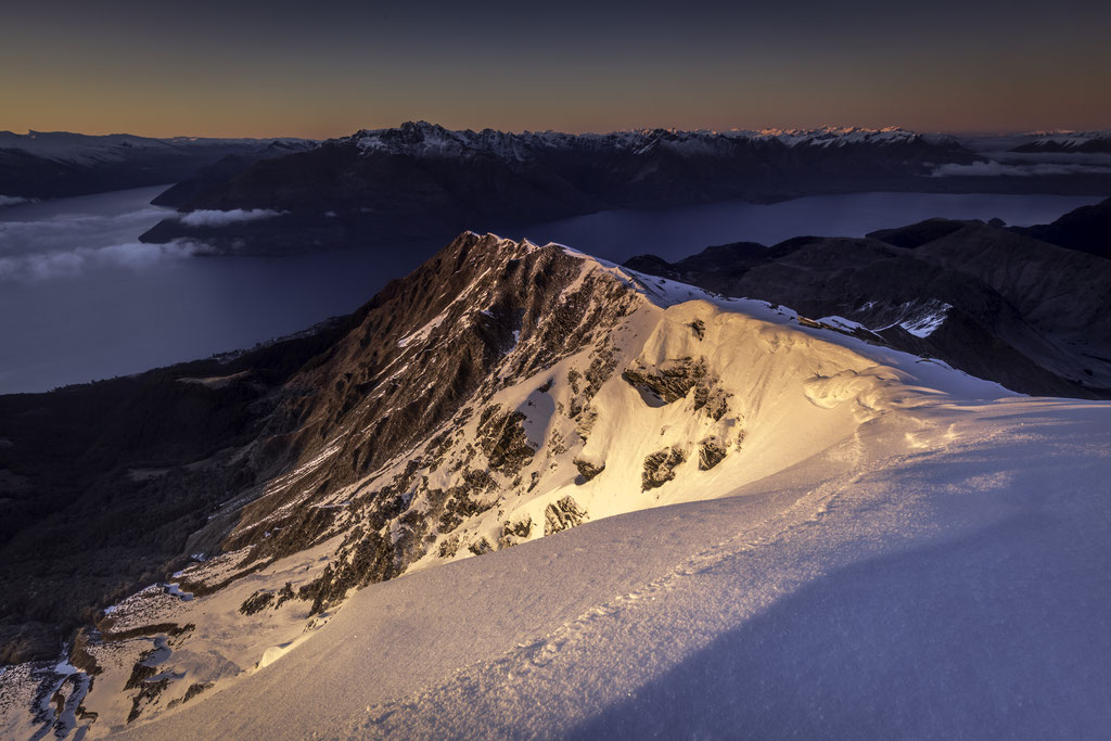 Sunrise from Ben Lomond in Queenstown