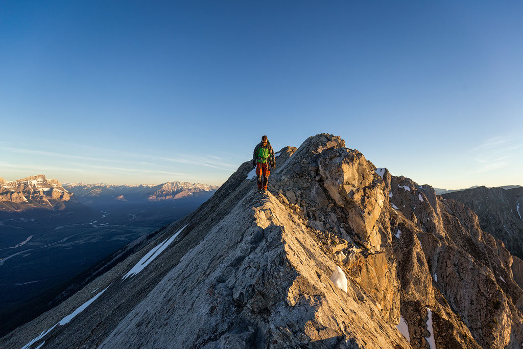 The Ridgeline on Mount Lady Macdonald. Best day hikes in Canmore and Kananaskis