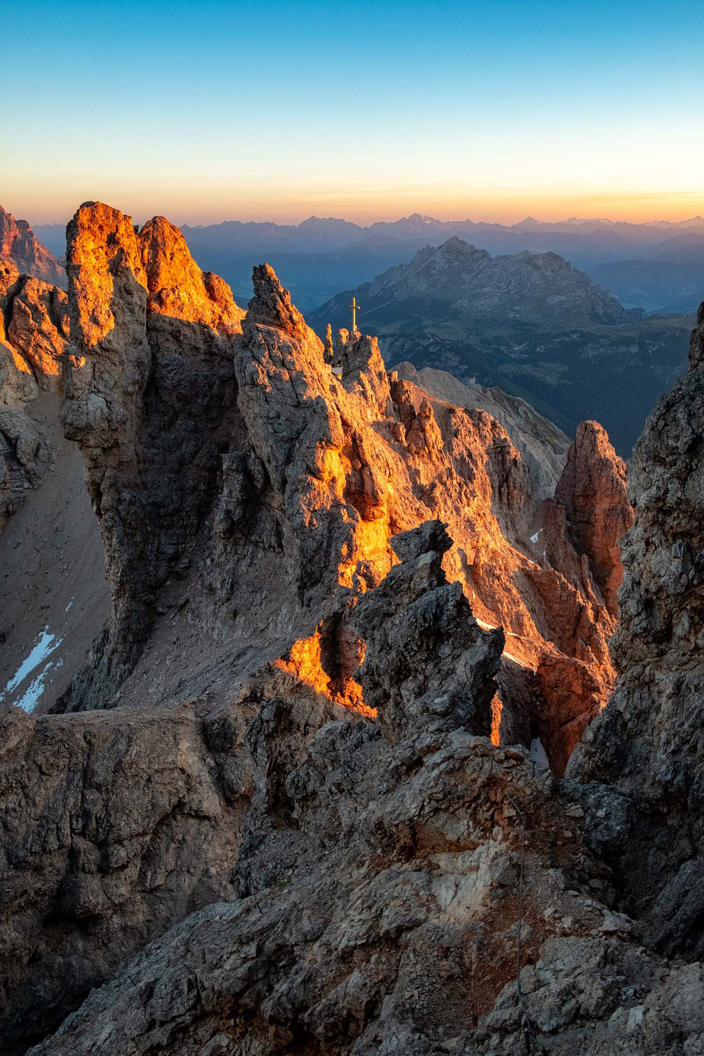 The weather rocks typical for the Dolomites landscape