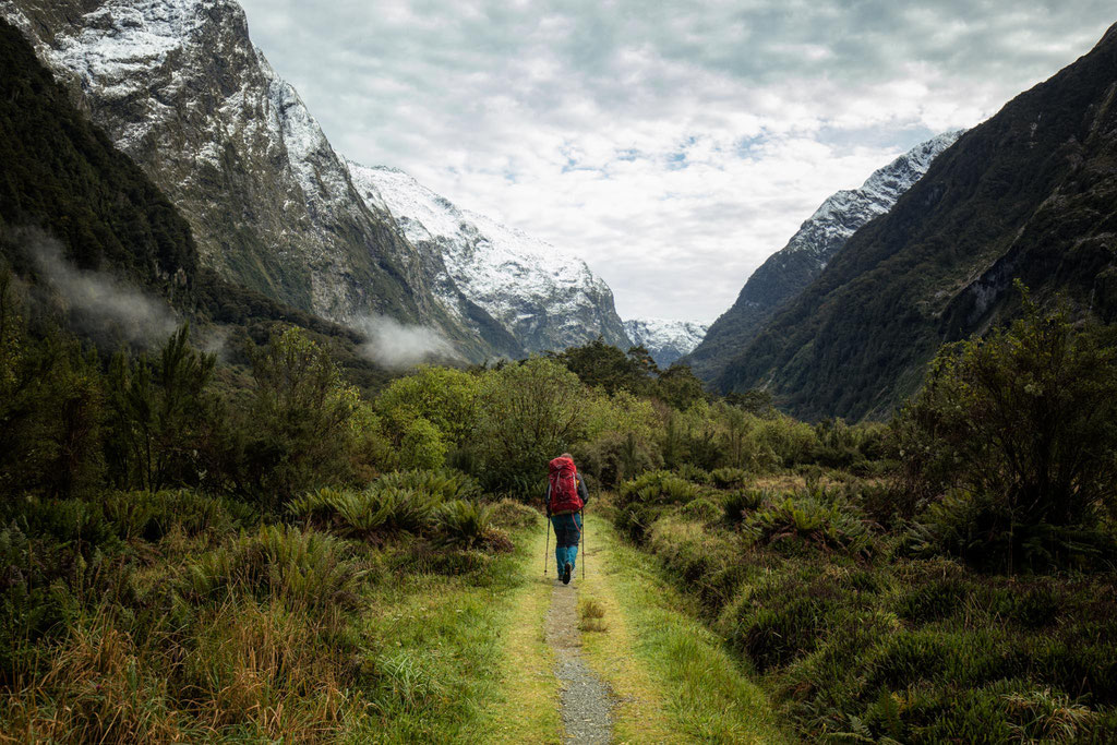 views along the Milford Track. Day 2