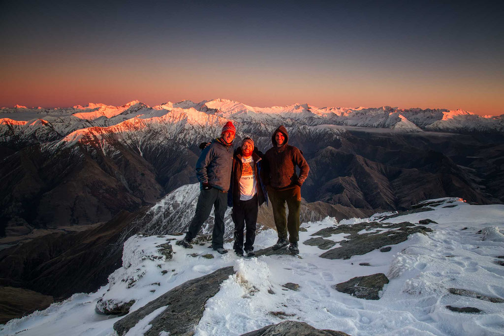 Morning light on the summit of Ben Lomond in Queenstown