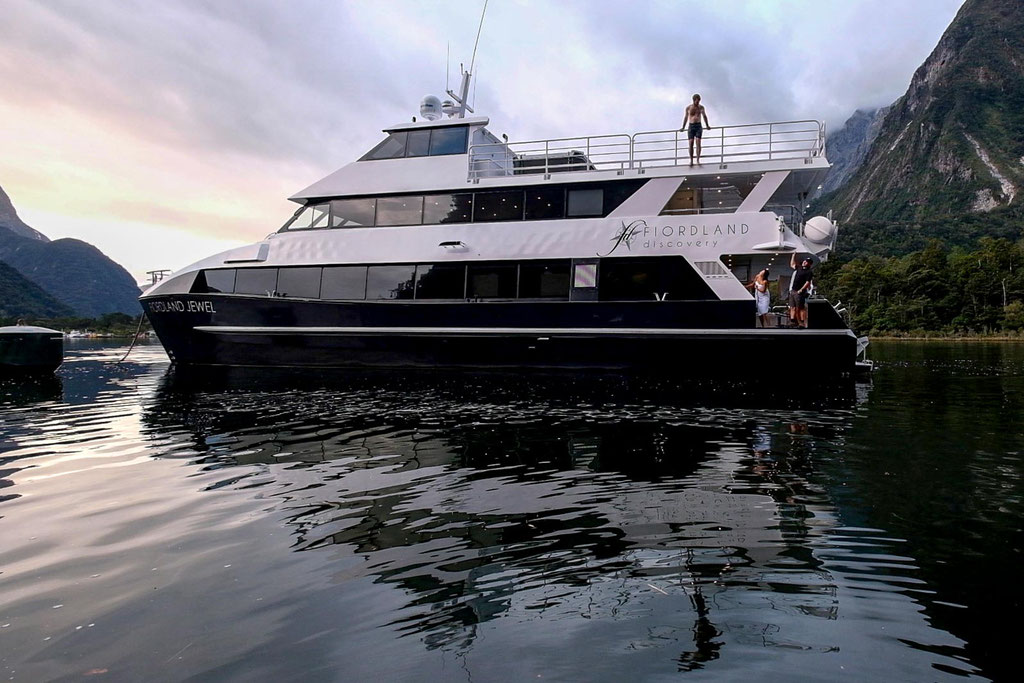 Fiordland Jewel - the vessel we stayed at overnight