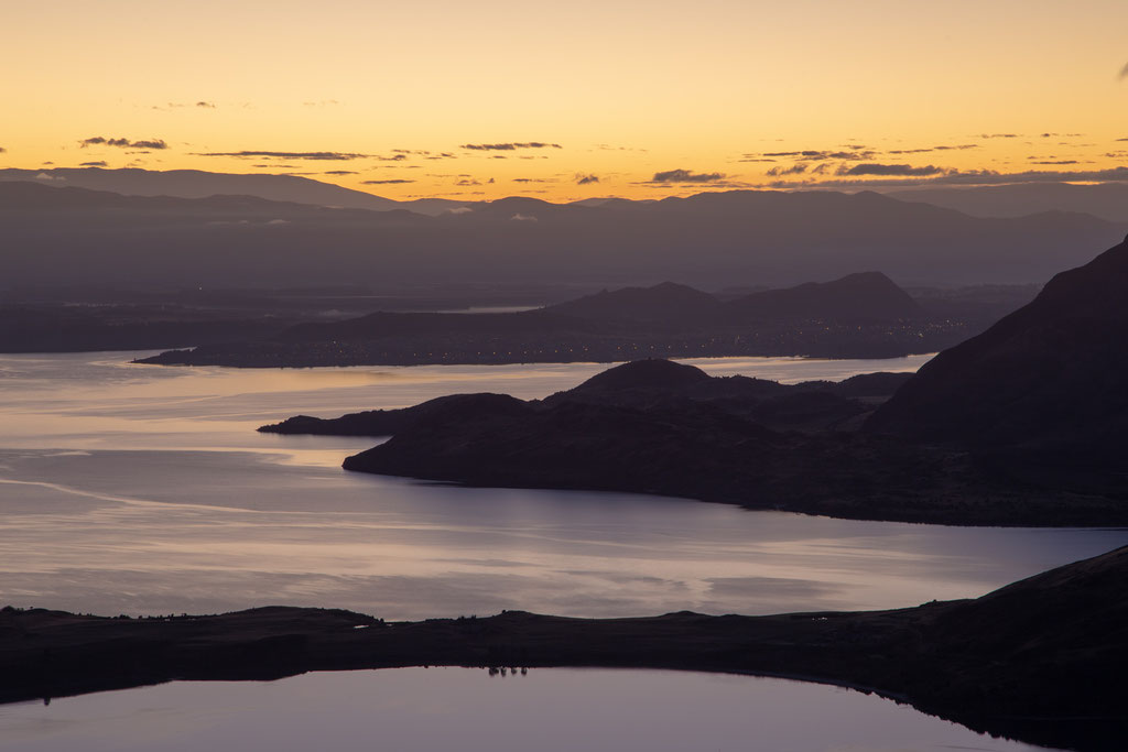 Sunrise from the Rocky mountain looking towards Wanaka