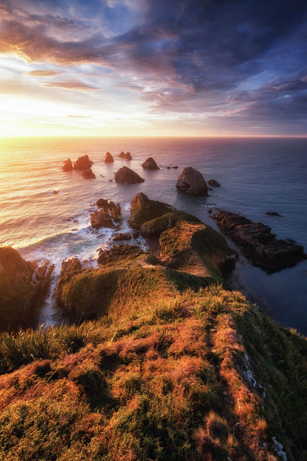 Nugget Point at sunrise