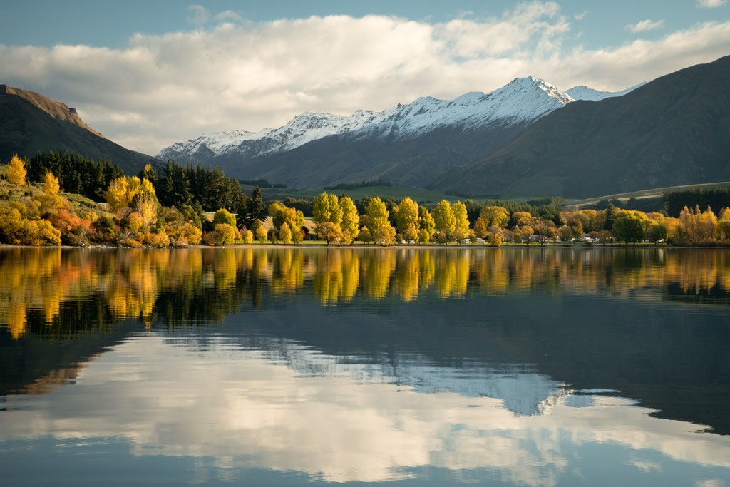 Glendhu Bay during autumn, Wanaka