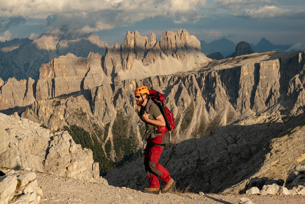 The views from the summit of Mount Averau with the jagged peaks of Croda da Lago. A possible via ferrata extension on the Alta Via 1