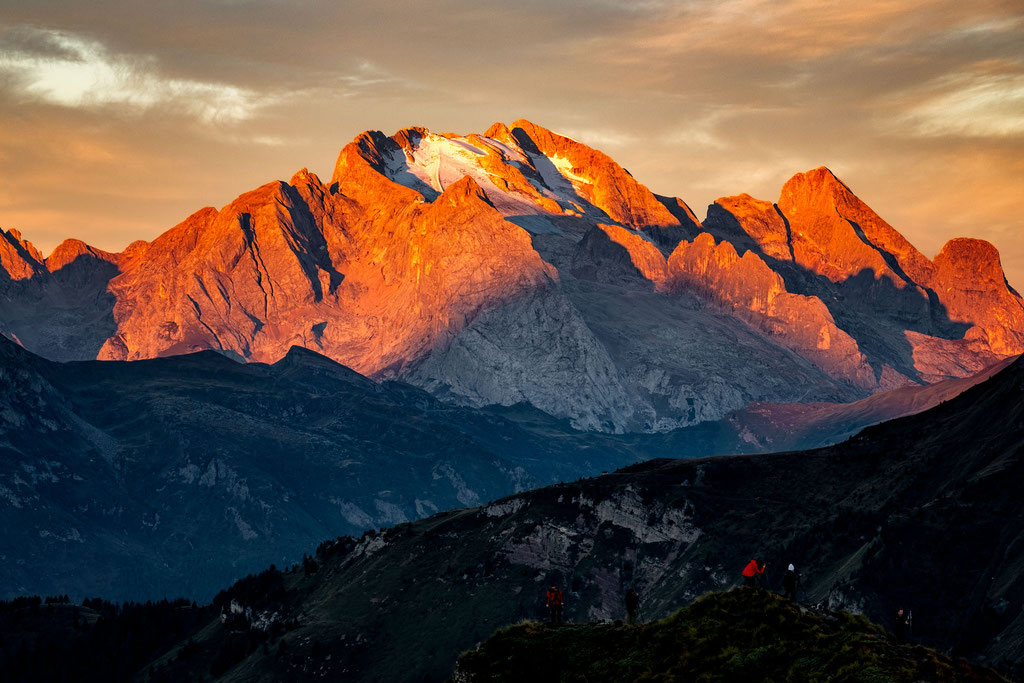 Marmolada at sunrise