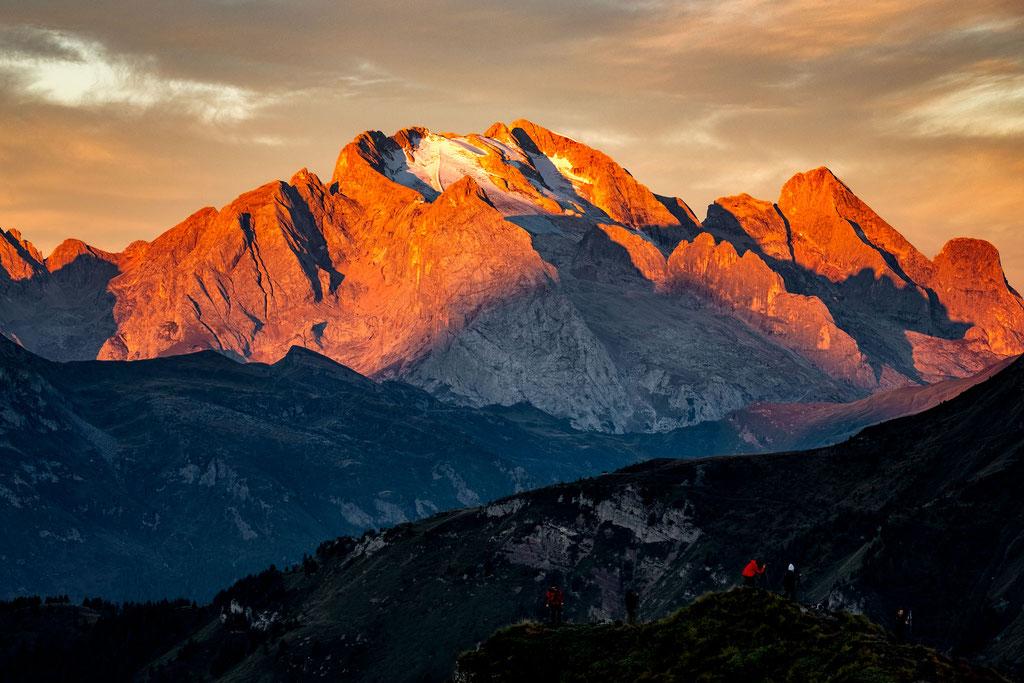 Marmolada at sunrise