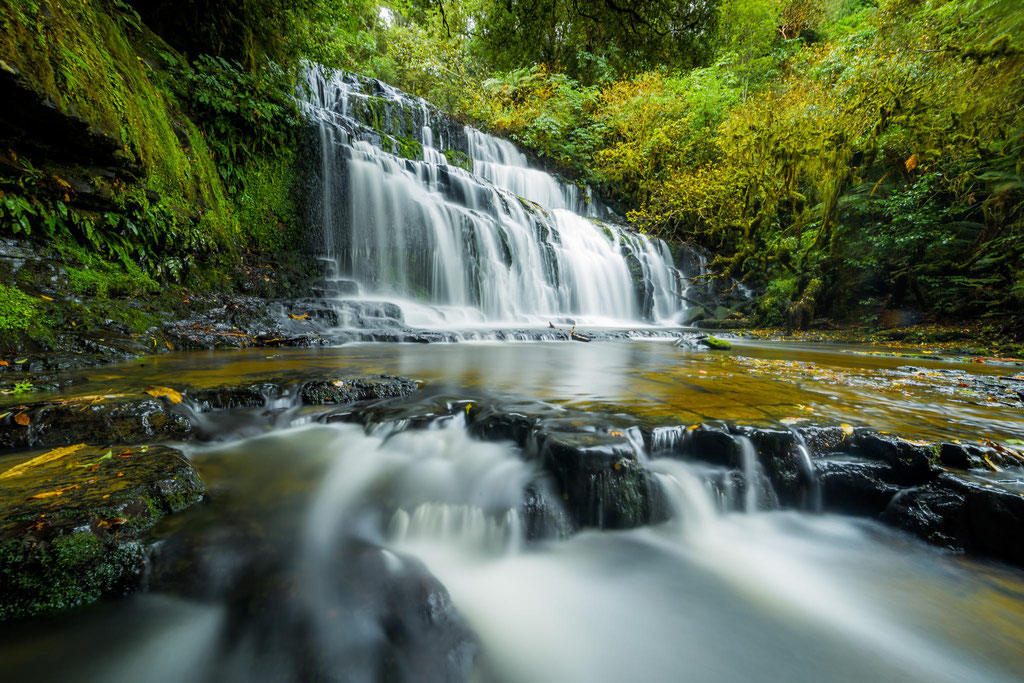 Purakaunui waterfalls