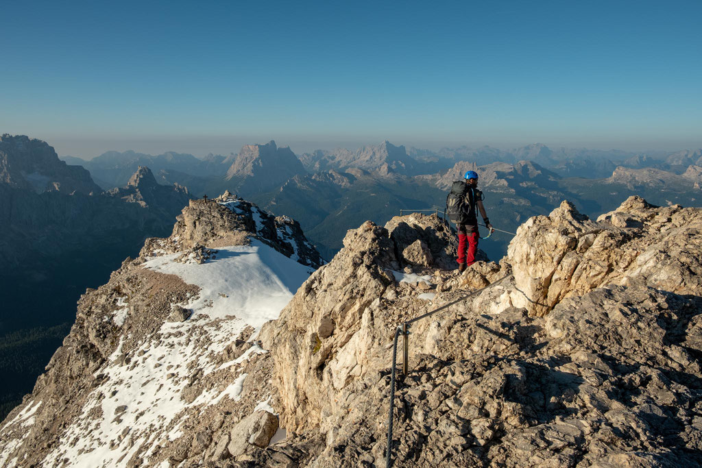 Via ferrata Marino Bianchi summit views