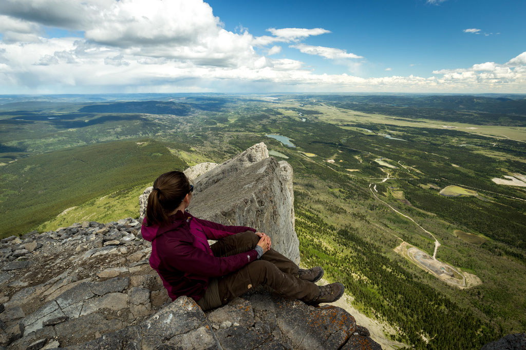 Looking towards Calgary from the top of Mt Yamnuska