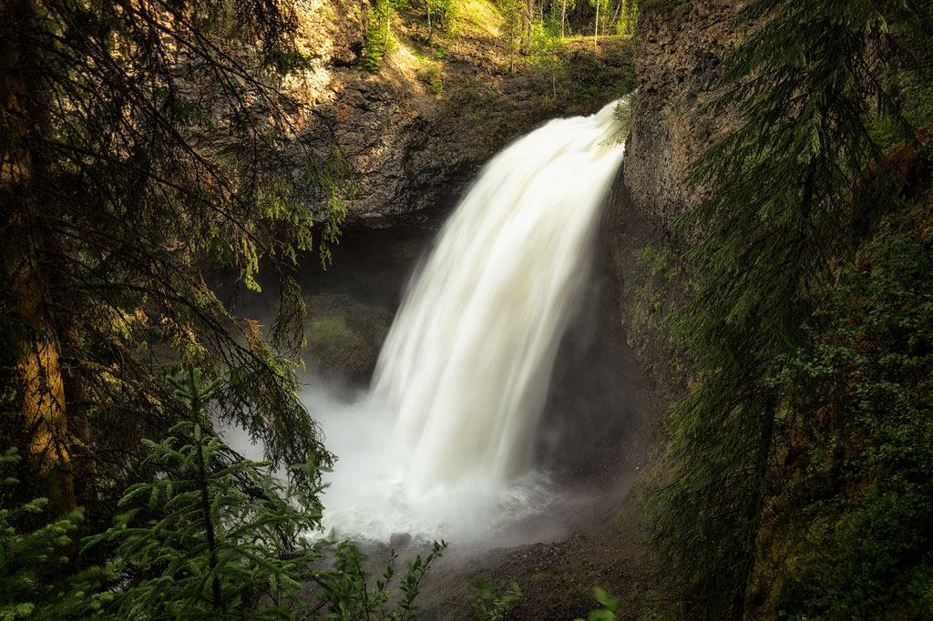 Moul Falls in Wells Gray Provincial Park