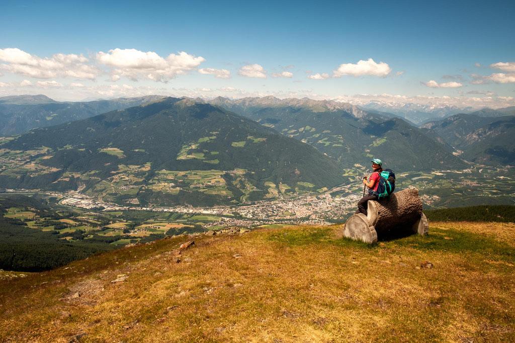 Thew views over Bressanone (Brixen) where the journey on Alta Via 2 begins