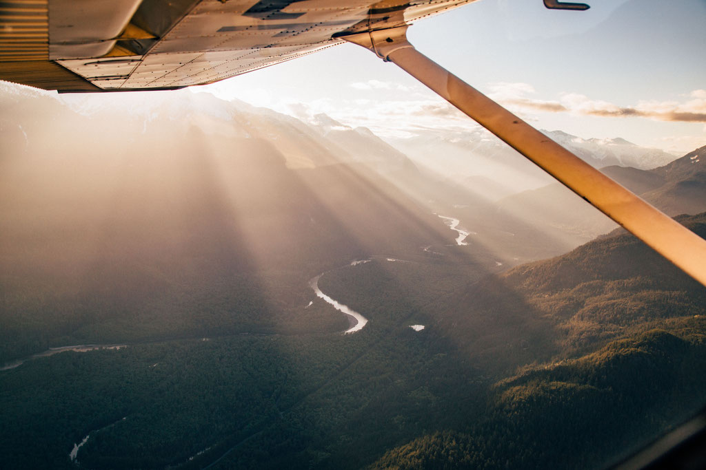 Scenic Flight above Garibaldi National Park in Canada