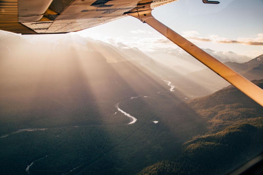 Scenic Flight above Garibaldi National Park in Canada