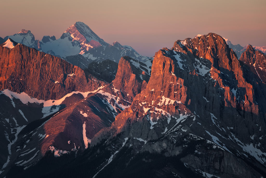 Mount Assiniboine visible from the Summit of Mount Lady Macdonald