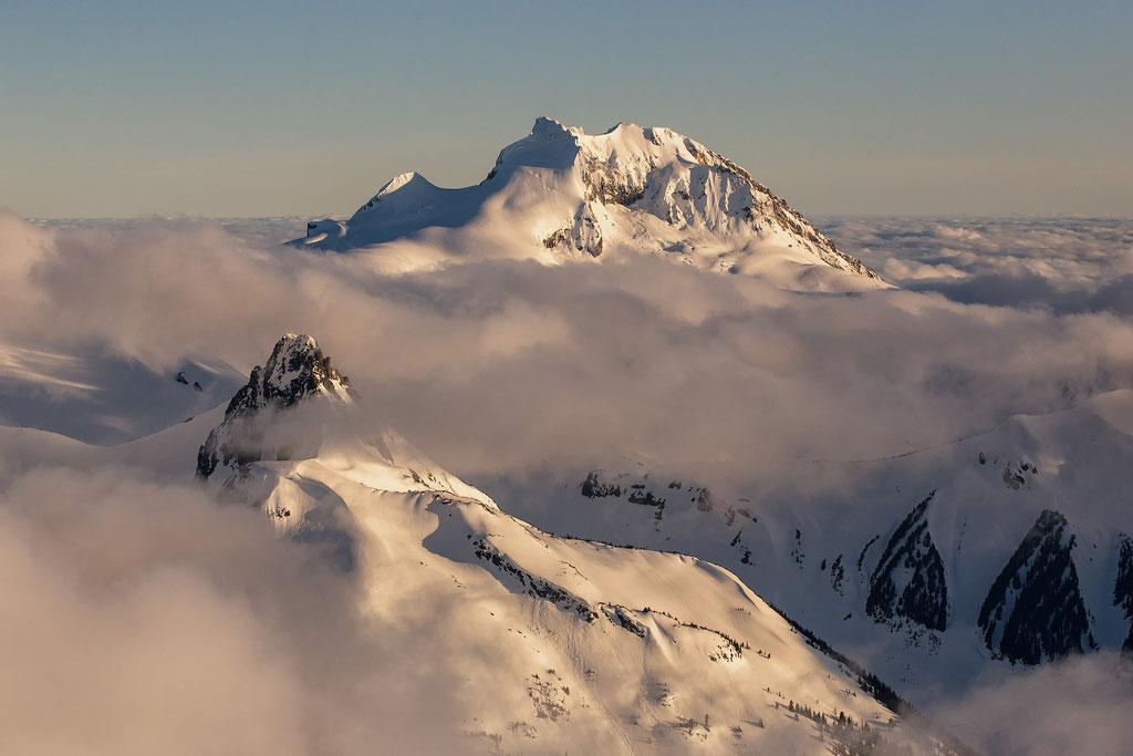 Capture from a scenic flight above Garibaldi Provincial Park