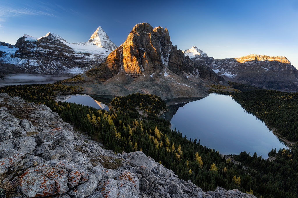 The view of Mount Assiniboine from the Niblet