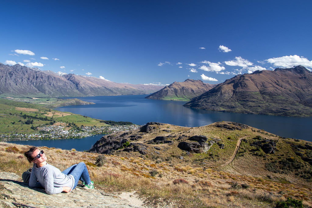 View from the top of Queenstown Hill in Queenstown