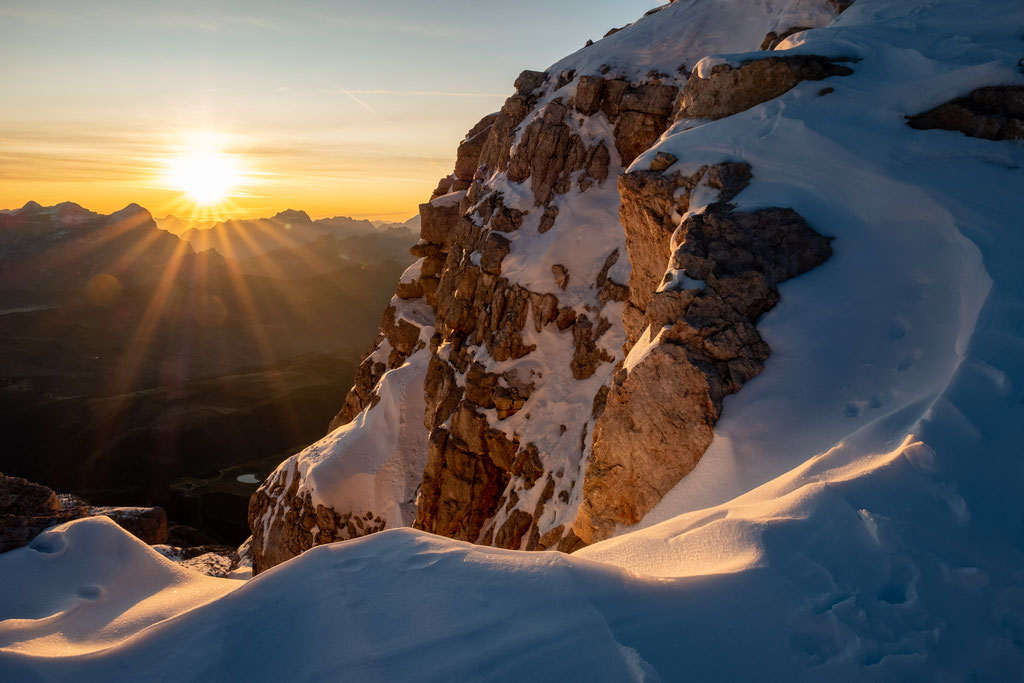 Sunrise from the summit of Piz Boé