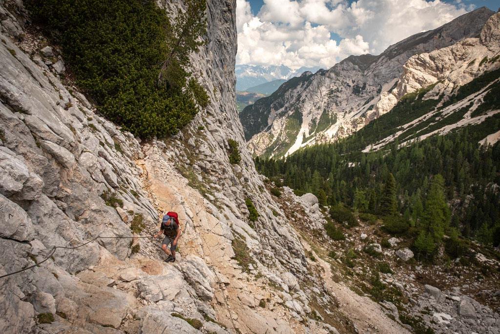 First day of Alta Via 1. Hiking to rifugio Biella