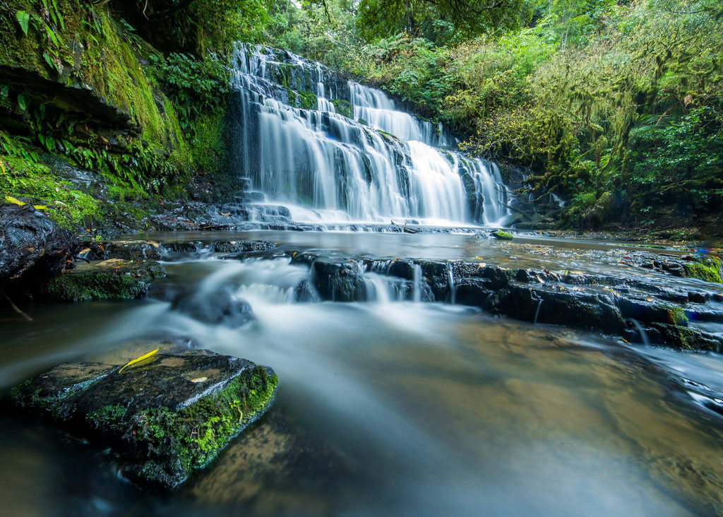 Purakaunui Waterfall New Zealand
